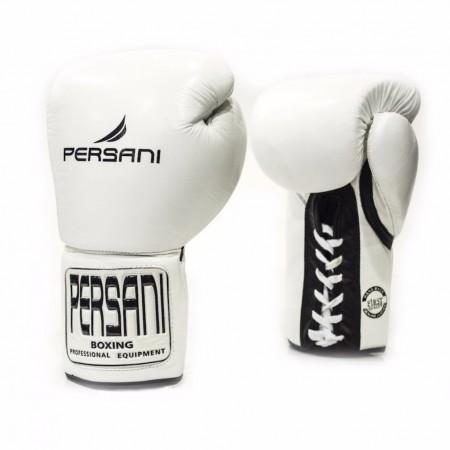 Γάντια πυγμαχίας & Kick Boxing Persani Pro Fight  Lace Up σε λευκό χρώμα