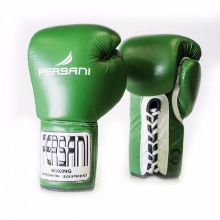 Γάντια πυγμαχίας & Kick Boxing Persani Pro Fight  Lace Up σε πράσινο χρώμα