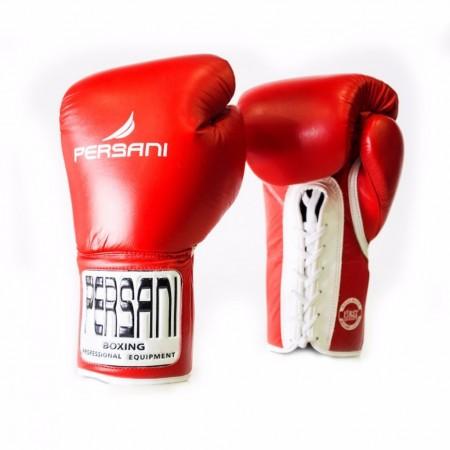 Γάντια πυγμαχίας & Kick Boxing Persani Pro Fight  Lace Up σε κόκκινο χρώμα