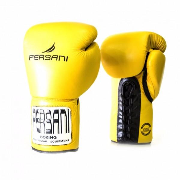 Γάντια πυγμαχίας & Kick Boxing Persani Pro Fight  Lace Up σε κίτρινο χρώμα