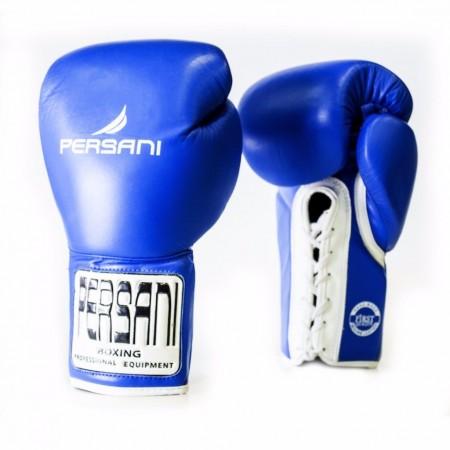 Γάντια πυγμαχίας & Kick Boxing Persani Pro Fight  Lace Up σε μπλέ χρώμα