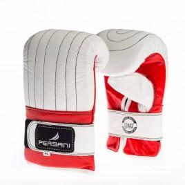 Γάντια σάκου για Πυγμαχία & Kick Boxing Persani σε Λευκό - Κόκκινο χρώμα