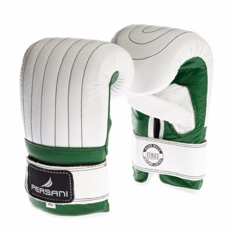 Γάντια σάκου για Πυγμαχία & Kick Boxing Persani σε Λευκό - Πράσινο χρώμα