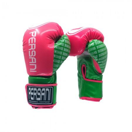 Γάντια Πυγμαχίας & Kick Boxing Carbon Persani Ροζ - Πράσινο