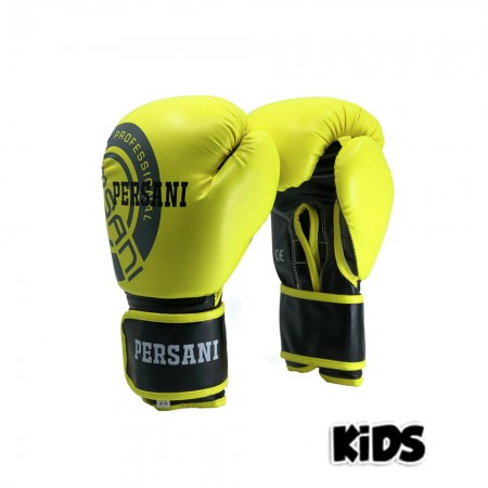 Γάντια Πυγμαχίας & Kick Boxing Persani Neon κίτρινο χρώμα kids